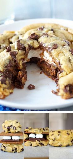 Giant Smores Stuffed Chocolate Chip Cookie Tutorial! #DIY #food #cookies #dessert #thecakebar #smores  http://thecakebar.tumblr.com/post/24403800795/giant-smores-stuffed-chocolate-chip-cookie
