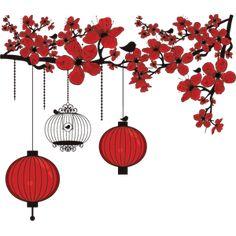 Adesivo Decorativo - Adesivo de Parede: Galho cerejeira - Deccolar Adesivos Decorativos
