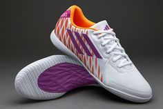 adidas Football Boots - adidas Freefootball SpeedKick - Fives - Indoor - Soccer Cleats - Running White-Vivid Pink-Solar Zest