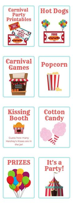 Carnival Party Printables - Are you throwing a carnival themed birthday party soon? We've got you covered with this selection of carnival party printables that can be used to celebrate in style!