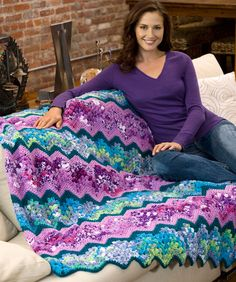 Rainy Day Ripple Throw  - Free pattern (Easy)