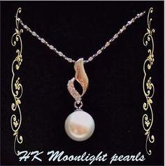 ROMOTION SALE! Zircon Angel Wing Silver White Pearl(10mm)Pendant +S925 Necklace | eBay