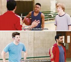 Parks And Recreation Ben playing basketball