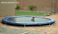 In-ground trampoline tutorial. I wouldn't think a tutorial would be necessary: Dig hole, insert trampoline. Now after reading the tutorial I realize it is necessary. I'm an idiot.