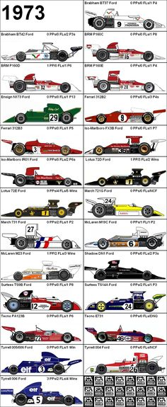 Formula One Grand Prix 1973 Cars