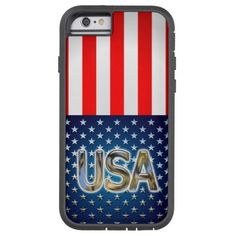 """50% OFF! TODAY ONLY! Use code: """" SOOMANYCASES """" ***Ends Nov. 26, 2014 11:59 pm PT*** USA Flag Tough Xtreme iPhone 6 Case"""