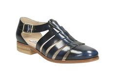 e94ad0e7b197 Womens Casual Shoes - Hotel Bustle in Navy Leather from Clarks shoes Navy  Sandals