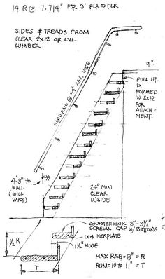 Alternate Tread (ladder stair or Jefferson Stair) like the idea of non-slip surface material to the step portion of the tread