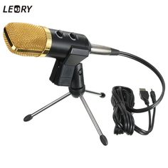 18.20$  Watch here - LEORY USB Microphone Condenser Kit Sound Studio Recording Wired Microphone Mic With Stand Mount For Braodcasting KTV Karaoke  #magazineonlinebeautiful
