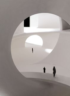 a f a s i a: Steven Holl Architects. might be cool to create an optical illusion that would result in the fibonacci spiral