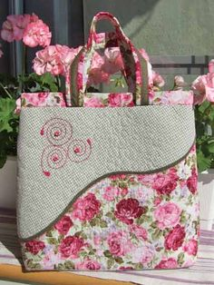 Here is a good idea for a machine stippled bag