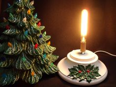 old fashioned christmas trees for sale | Holly Detailed (Large) Ceramic Christmas Tree Base