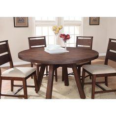 Modus Portland Solid Wood Round Dining Table - Medium Walnut
