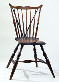 Braced Fan Back Windsor Side Chair, Coastal Connecticut Or Rhode Island,  Circa 1790