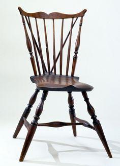 Braced Fan Back Windsor Side Chair, Coastal Connecticut Or Rhode Island,  Circa 1790