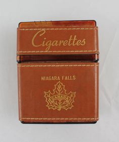 Leather cigarette case/holder/wallet brown by CatApolinarVintage