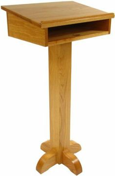 Solid Wood Pedestal Speakers Stand by Executive Wood Products. $499.00. Podiums & Lecterns All of our made in the U.S.A products begin with select kiln dried lumber. Once our master craftsmen have meticulously crafted each piece into a beautiful product, we complete it in the stain of your choice - light, medium or dark. We then apply our state of the art, environmentally conscientious, three step spray process which includes hand sanding between coats. This is necessary to giv...