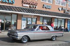 Cruisin on the Ocean City MD Boardwalk.  Our 63 Ford Fairlane 500 Sport Coupe. 91-028