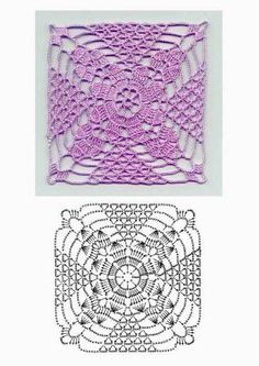 Crochet motif with graph