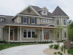 The Exterior Color Is Sherwin Williams Stone Lion, The Chosen Color.