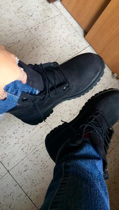All black everything. #timberlands