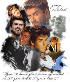 George Michael Collage by ~littlemebigworld on deviantART