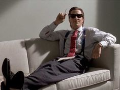 Christian Bale at his finest. American Psycho.