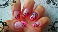 Neon pink and zebra stamping