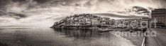 A friend of mine gave me this idea to try and create something like that, so this is the final result. A sepia panorama. Wonderful Images, Fine Art America, Greece, Poster Prints, Landscape, Wall Art, Canvas, City, Metal
