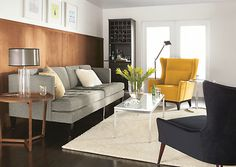 I've been in love with that gold chair for years, and now I think I've fallen for the sofa too.   Hutton Sofas - Room & Board
