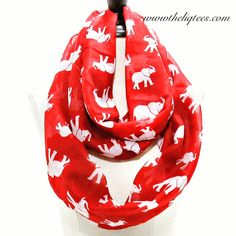 Elephants. Red. White. Super cute gift option! Get over to www.theliqtees.com!