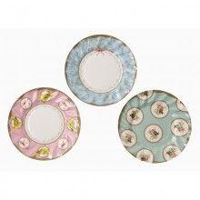 Tea Party Paper Plates .katespartyshop.com  sc 1 st  Pinterest & Vintage Style Floral Plates - 12 Paper Plates - Blue Porcelain Style ...