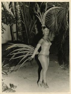 1940s Cuba Singer Mercedita Valdes at Tropicana Photo