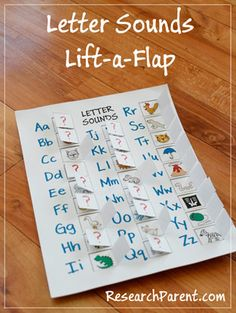 Homemade Letter Sounds Lift-a-Flap Game - Help Preschoolers and Kindergarteners Learn the Sound Associated with Each Letter - ResearchParent.com