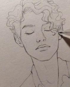 Aquarellmalerei-Gesichtszeichnung - Famous Last Words Cool Art Drawings, Pencil Art Drawings, Art Drawings Sketches, Sketch Art, Drawing Faces, Drawing Drawing, Drawing Ideas, Nature Drawing, Drawing Practice
