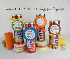 """You're a Lifesaver-Thanks for All You Do-3"""" Tags"""