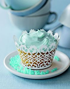 Cupcake Decorating Ideas Blue : 1000+ images about Tiffany blue cupcakes on Pinterest Tiffany blue weddings, Tiffany blue and ...