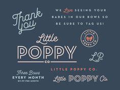 Little Poppy Co. Branding logo design script typography
