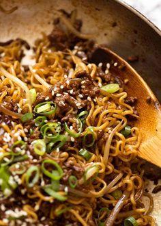 Quick Asian Beef Ramen Noodles - - Quick Asian Beef Ramen Noodles Food For Thought. Quick Asian Beef and Noodles Asian Beef, Recipetin Eats, Masterchef, Beef And Noodles, Asain Noodles, Dry Ramen Noodles, Szechuan Noodles, Drunken Noodles, Sesame Noodles