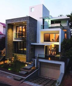 Architecture Drawing Discover Modern And Stylish Exterior Design Ideas - Stylendesigns Villa Design, Modern House Design, Box House Design, Big Modern Houses, Design Hotel, Modern House Plans, Modern Homes, Modern Exterior, Exterior Design