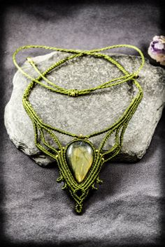 Handmade necklace using macramé technic with high quality thread Linhasita from Brazil, durable, not loses color, waterproof. No glue!  ༺.The true