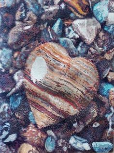 Rock Heart Diamond Painting Home Decoration Finished