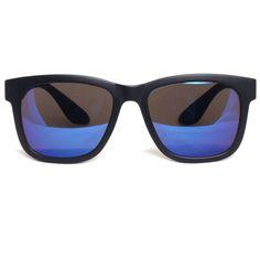 JONTE Oversize Square Frame Sunglasses Blue Mirror Lens Unisex Fashion Eyewear #JONTE #Square