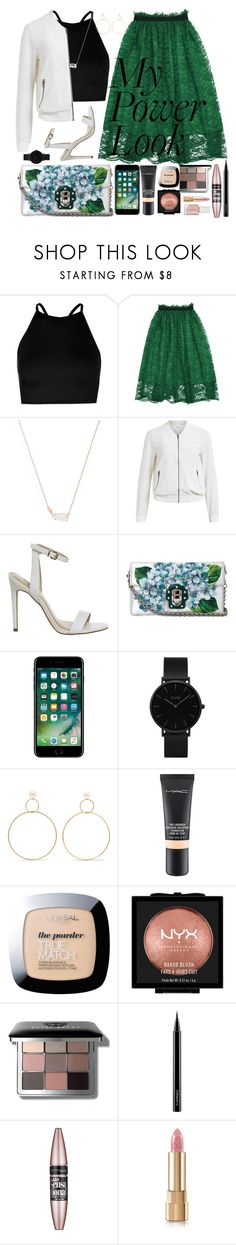 """the power of the woman is her own fashion style. #mypowerlook #powerlook"" by michelllambert12 ❤ liked on Polyvore featuring Boohoo, Kendra Scott, Object Collectors Item, Dolce&Gabbana, CLUSE, Natasha Schweitzer, MAC Cosmetics, L'Oréal Paris, NYX and Bobbi Brown Cosmetics"