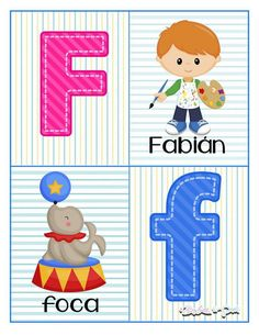 Tarjetas para trabajar el abecedario - Imagenes Educativas Kids Collage, Alphabet Cards, Pre Kindergarten, Preschool Lessons, Math For Kids, Future Baby, Homeschool, Activities, Education