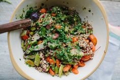 Spring Tabbouleh with Green Harissa