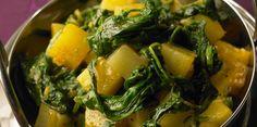 Poêlée de navets, pommes de terre et épinards frais