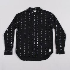 Wood Wood Fane Shirt - Papercut Black