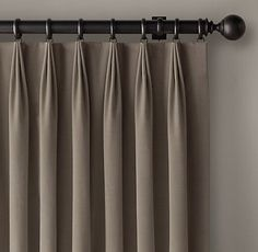 Custom Vintage Velvet Tailored-Pleat Drapery or valances from margot duck egg tricia guild Pinch Pleat Curtains, Pleated Curtains, Home Curtains, Lined Curtains, Curtains With Blinds, Diy Pencil Pleat Curtains, Window Blinds, Valances, Curtain Styles