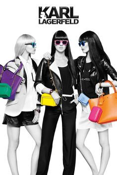 """The """"Karl is Kolor"""" ad campaign for Karl Lagerfeld's namesake brand, features Kendall Jenner. [Courtesy Photo]"""
